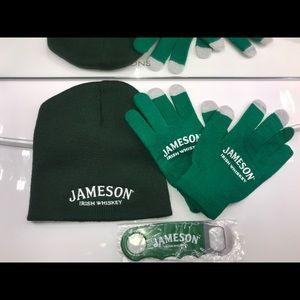 Jameson Irish whiskey beanie glove bottle opener